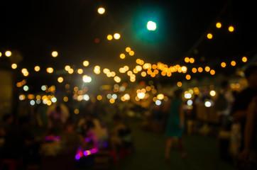 Blurred night market