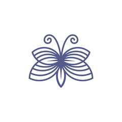 line art abstract butterfly icon symbol logo template vector illustration