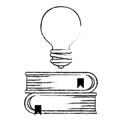 bulb light with books