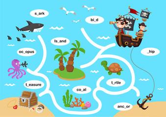 Education maze game vector illustration