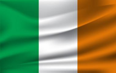 Ireland Flag in Vector Illustration