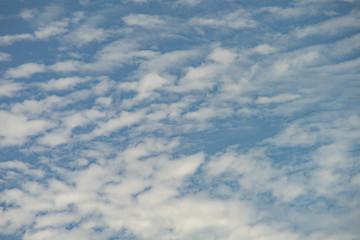 Cirrocumulus cloud beautiful blue white sky background