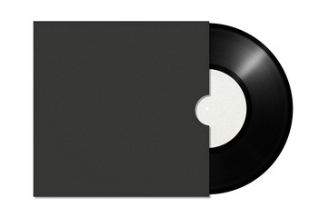 vinyl record in an envelope