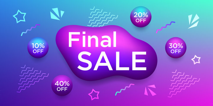 Colorful banner for Final Sale and discounts