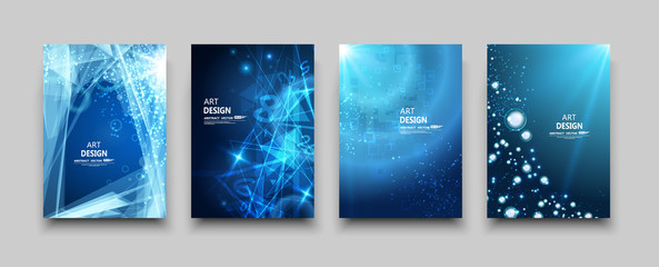 Abstract composition, glass water circle effect icon, air bead in ocean, round shine, light ray in sea font, a4 brochure title sheet, oxygen bulb, elegant blue backdrop surface, creative cover vector