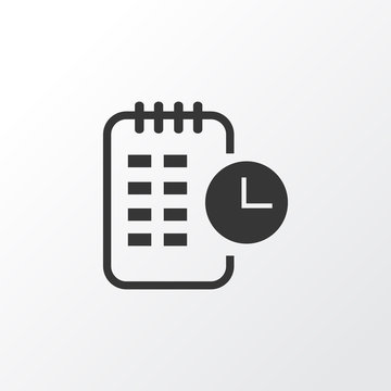 Long-term plan icon symbol. Premium quality isolated timeline element in trendy style.