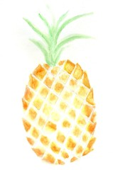 Pineapple abstract art