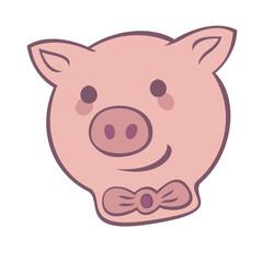 pig funny logo