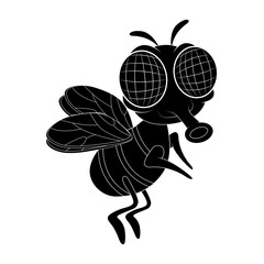 fly cartoon character vector design isolated on white background