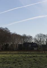 Jet Stream Over Landscape