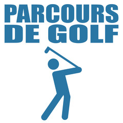 Logo parcours de golf.
