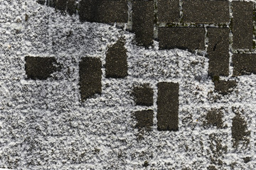 Snow With Brick Pattern