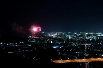 花火大会と街〜Fireworks&City