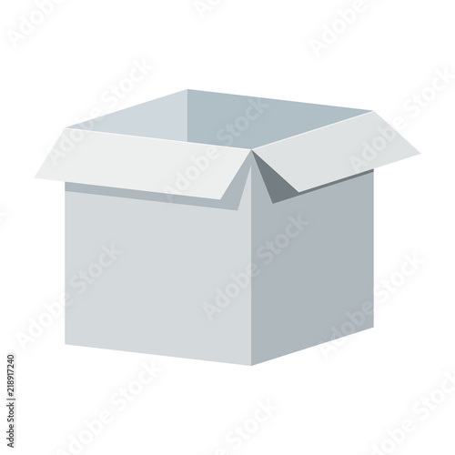 big white open box template packaging for gifts parcels various