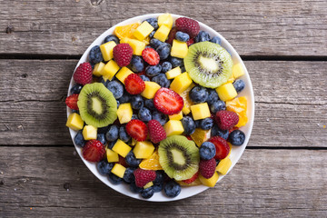 Fresh fruit and berries salad