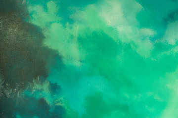 Abstract green paint color