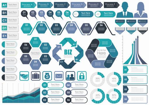 ビジネス インフォグラフィックセット