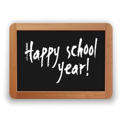 Vector Happy School Year on Blackboard