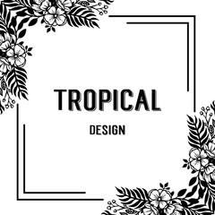 Floral frame for tropical theme vector illustration