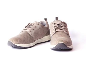 men's sneakers isolated on white. men's footwear.