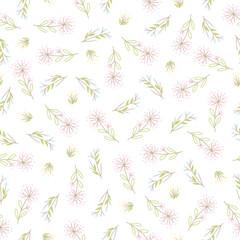 Fototapete - Abstract simple flower pattern