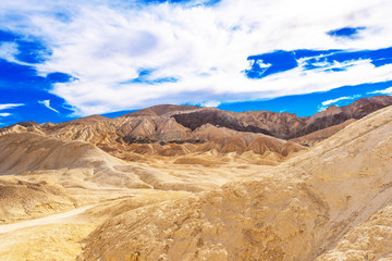 View of Death Valley, California, USA. Copy space for text.