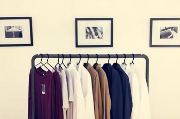 Various woman clothing at shop