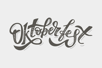 Oktoberfest lettering Calligraphy Brush Text Holiday Vector Sticker