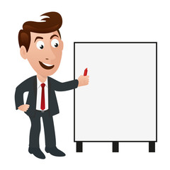 mascotte, présentation, personnage, entreprise, sourire, montrer, homme, bilan, programme, projet