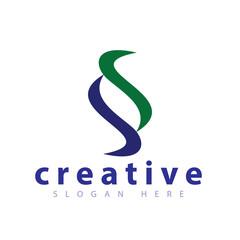 SS Letter Logo icon vector