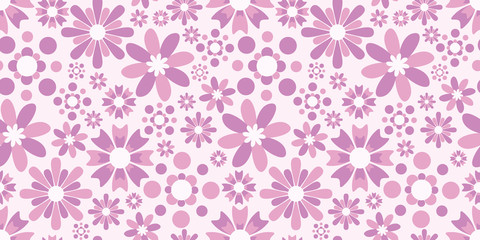 Flower background. Seamless pattern.Vector. 花のパターン
