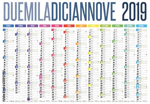 Sunrise Calendar 2019 2019 italian calendar with italian holidays, zodiac , saints, moon