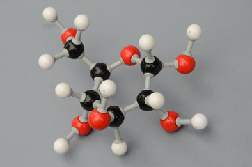 Molecule model of Glucose.