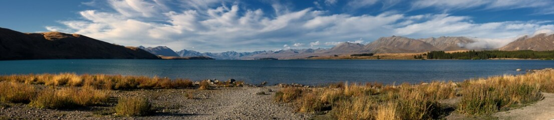 Lake Tekapo in the middle of the southern Alps, New Zealand