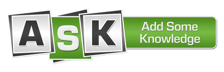 ASK - Add Some Knowledge Green Grey Squares Bar