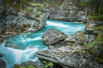 Wall Mural - Scenic Norwegian Glacial River