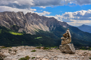 Italy Dolomites Latemar stoneman