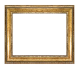 Golden frame for paintings, mirrors or photo