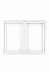 inside of a white window frame on a white background