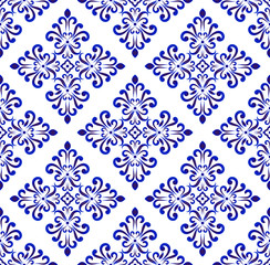 blue and white floral background