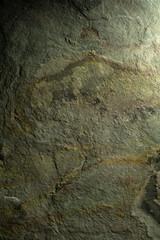 Stone texture background in greenish metal tones