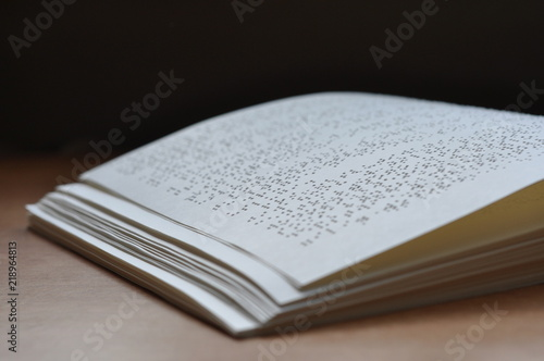 Braille book, Braille page, braille paper, braille literature