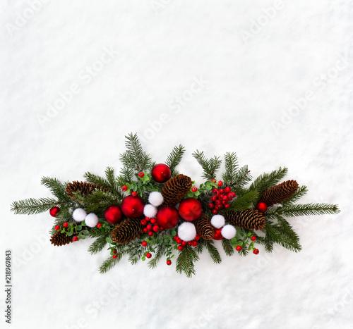 Christmas Tree Top View.Christmas Decoration Twigs Christmas Tree Christmas Balls