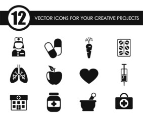 healthcare vector icons for your creative ideas