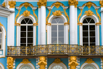 ST.PETERSBURG, RUSSIA - AUGUST 19, 2017: Pavilion Hermitage. Tsarskoye Selo is a former Russian residence of the imperial family and visiting nobility 24 km south from the center of St. Petersburg
