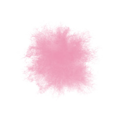 Beautiful pink feather isolated on white background