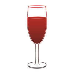 Champagne glass cup vector illustration graphic design icon