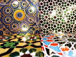 Moroccan Tiles and Lights