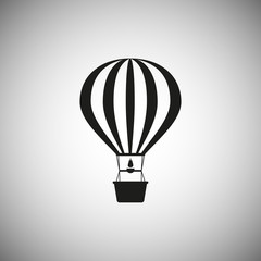 Hot air balloon. Icon on isolated background. The concept of vacation, travel. Template design. Vector illustration for your ideas.
