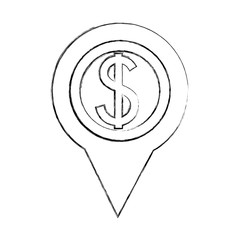 dollar money american pin location